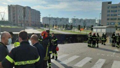خطير! انهار أرضي لموقف السيارات بمستشفى نابولي وإجلاء جميع مرضى كوفيد 19 منه